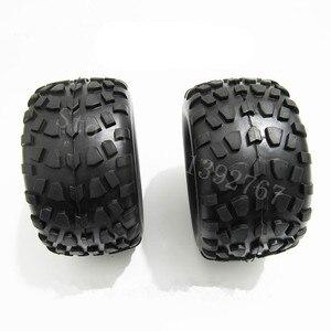 Image 2 - Neumáticos de esponja de goma para coche a control remoto, llantas de goma para coche a escala 1/10, HSP, todoterreno, camión monstruo 94111 94108 94188, 4 unid/lote