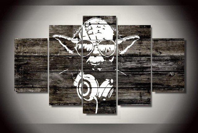 5 Pieces/set New yoda star wars Canvas Print