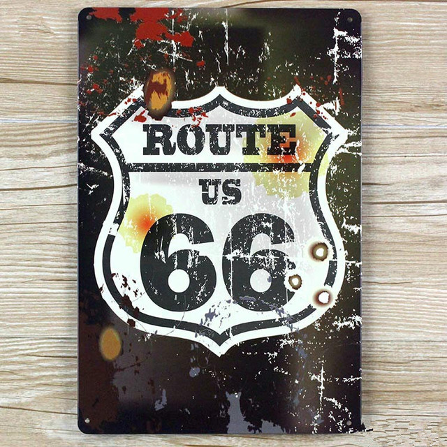 UA 0162 about route 66 for usa vintage home decor metal Tin signs ...