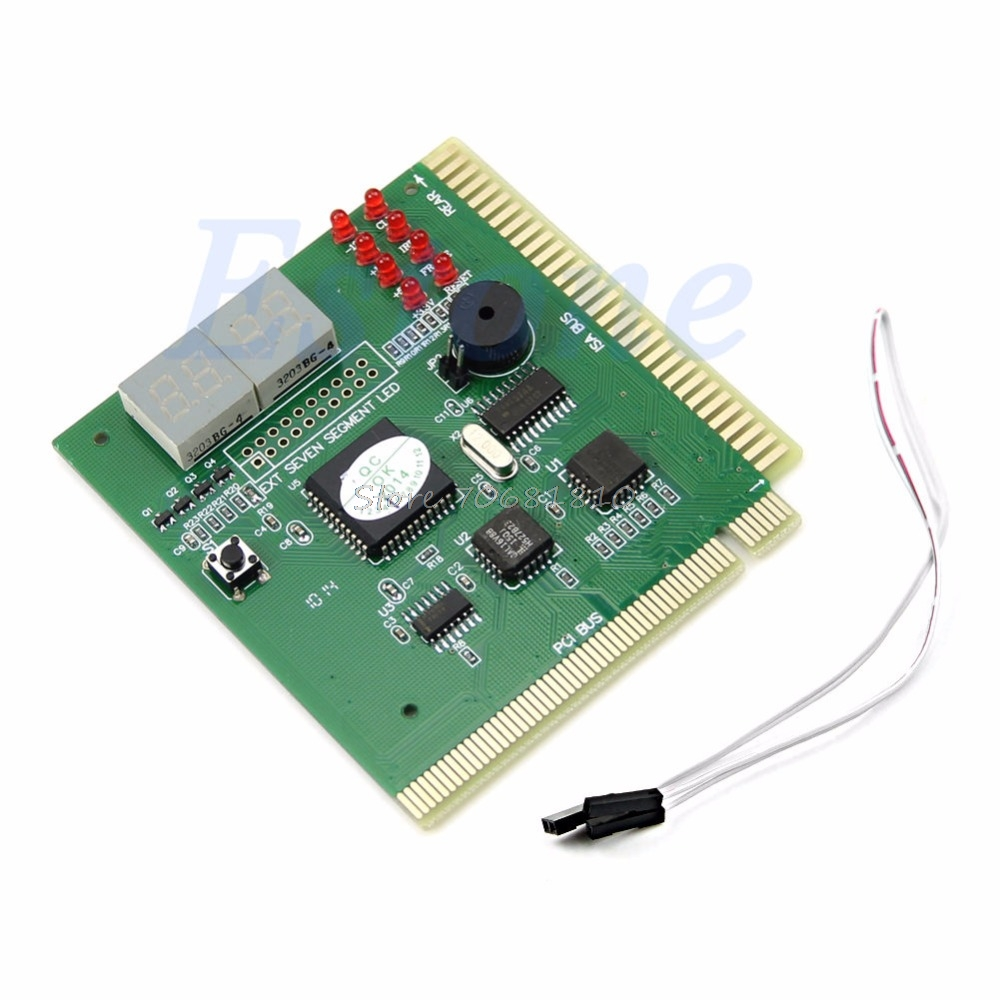 4Digit PC Computer Diagnostic Card Motherboard Mainboard POST Tester PCI ISA Drop Shipping