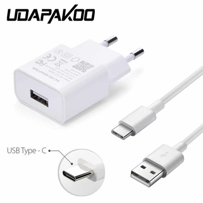 Fast usb charger Adapter & 1M Type c usb Cable For Xiaomi mi 8 9 huawei mate 20 10 9 P20 pro lg g5 q8 V40 One Plus 7 6 Pixel 2 3