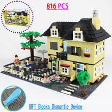 NEW garden Villa House model building blocks kids friend toys Compatible Minifigures LEGOes House City  Bricks toy for Children