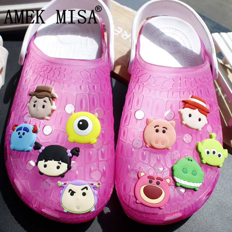 Novelty Cute Style 1-2 Sets PVC Garden Shoes Charm Decorations Toy Story And MU,Accessories Shoe Buckle Fit Bands/Bracelets/Croc