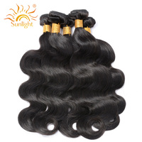 Sunlight Human Hair Malaysian Body Wave 100 Human Hair Weave Bundles Non Remy Hair Weaving Natural
