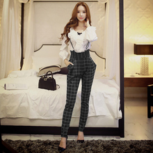Dabuwawa two colors high waist bow trousers leggings harem trousers
