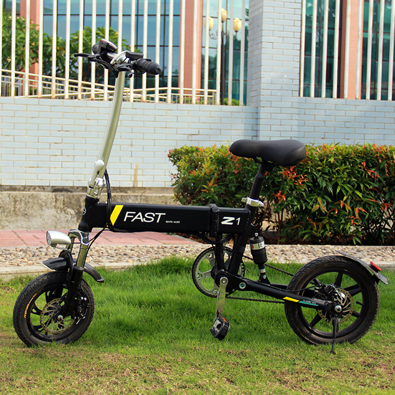 Excellent 14inch folding electric bike mini lithium battery bicycle Portable adult  powered motorcycles Two-disc brakes electric bicycle 17