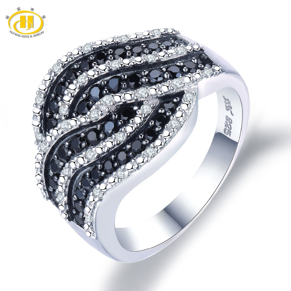 Hutang Engagement Ring Gemstone Natural Spinel Topaz Solid 925 Sterling Silver Fine Fashion Stone Jewelry For