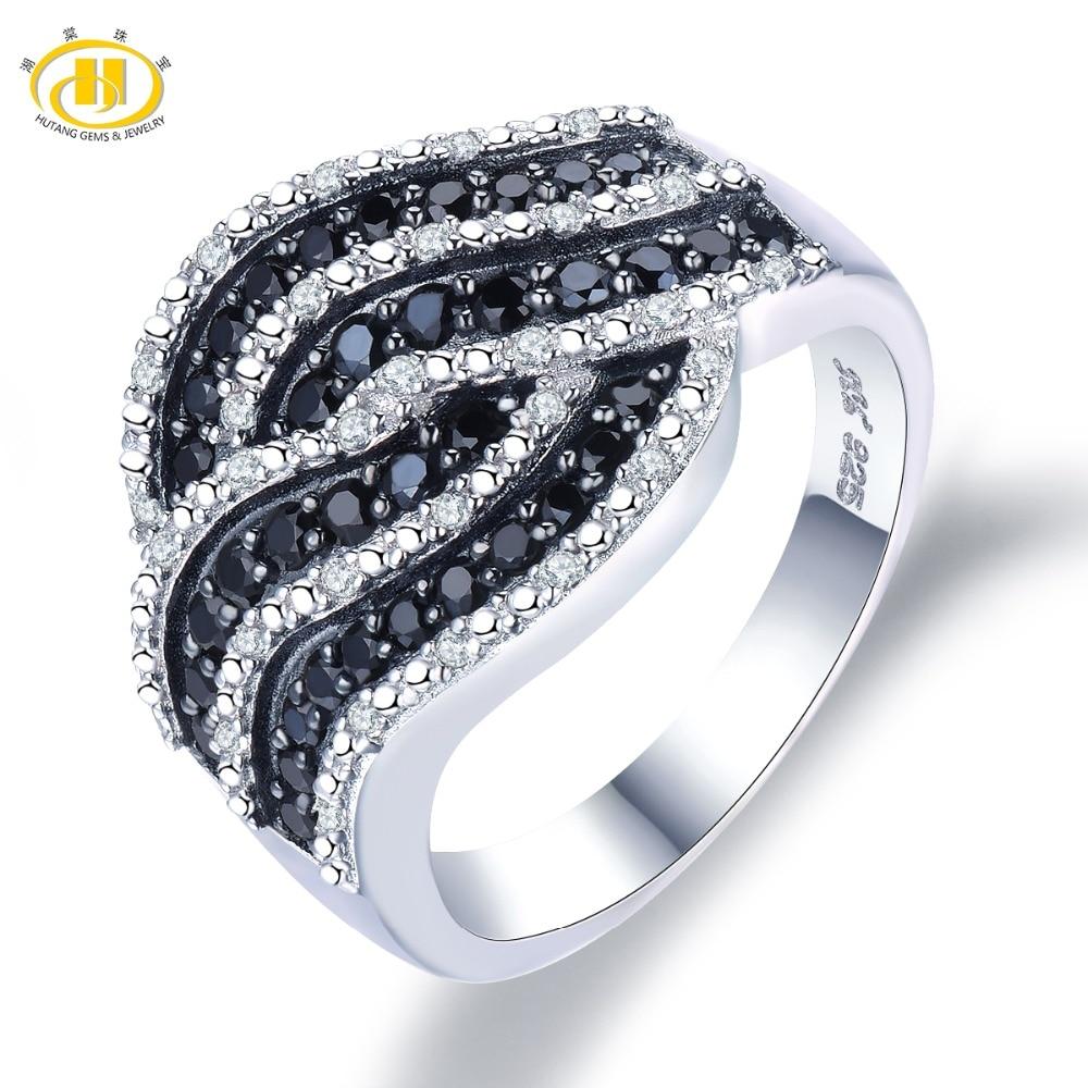 Hutang zaręczynowy pierścionek z kamieniem naturalny Spinel Topaz stałe 925 Sterling Silver Fine Fashion kamień biżuteria dla kobiet prezent nowy w Pierścionki od Biżuteria i akcesoria na  Grupa 1