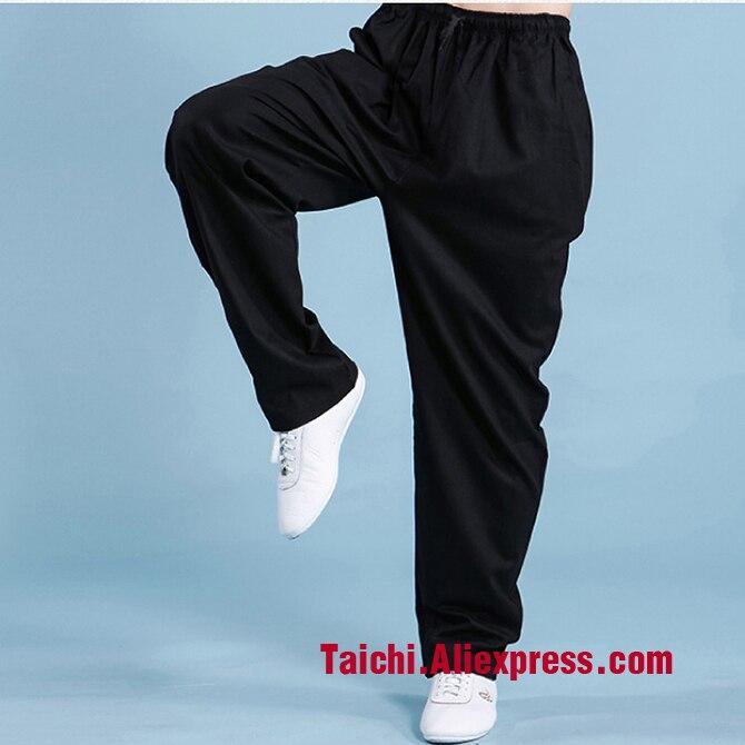 Flachs Baumwolle Frühjahr Und Herbst Kampfkunst Tai Chi Hose Mit Tasche
