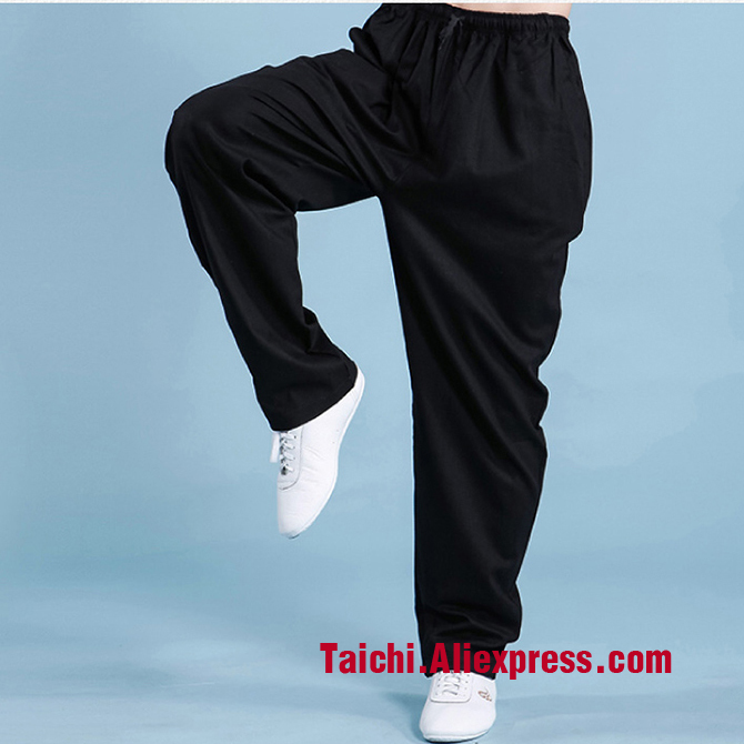 Flax Cotton Spring And Autumn   Martial Art Pants Tai Chi Trousers With Pocket