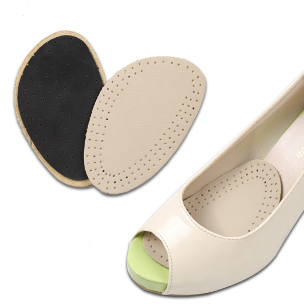 1 pair Sole High Heel Front Foot Cushions Forefoot Anti-Slip Insole Breathable Shoes Pad Soft wholesale 5 beige rubber soft front insole for ladies fit any shoes