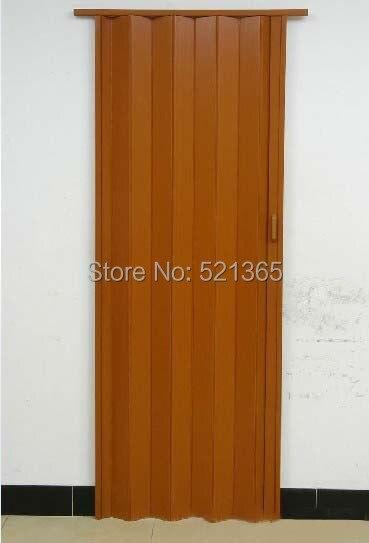 Free Shipping L06 001 Pvc Folding Door Casual Door Plastic Foldable Door Accordion Doors H205cm