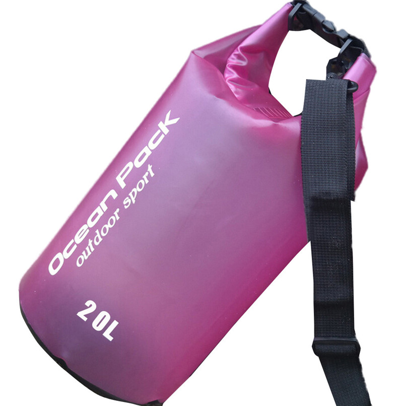 20L PVC Waterproof Dry Bag Outdoor Sport Swimming Rafting Kayaking Sailing Bag Outdoor waterproof bag #2f19 (1)