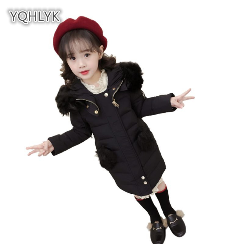 Children Winter Girl Down Jacket Fashion Hooded Warm Girl Cotton coat Thicken Children Cotton Long kids Parker Outerwear & Coats children new winter girl coat fashion hooded warm down jacket thicken girl cotton long parkas coat cotton outerwear