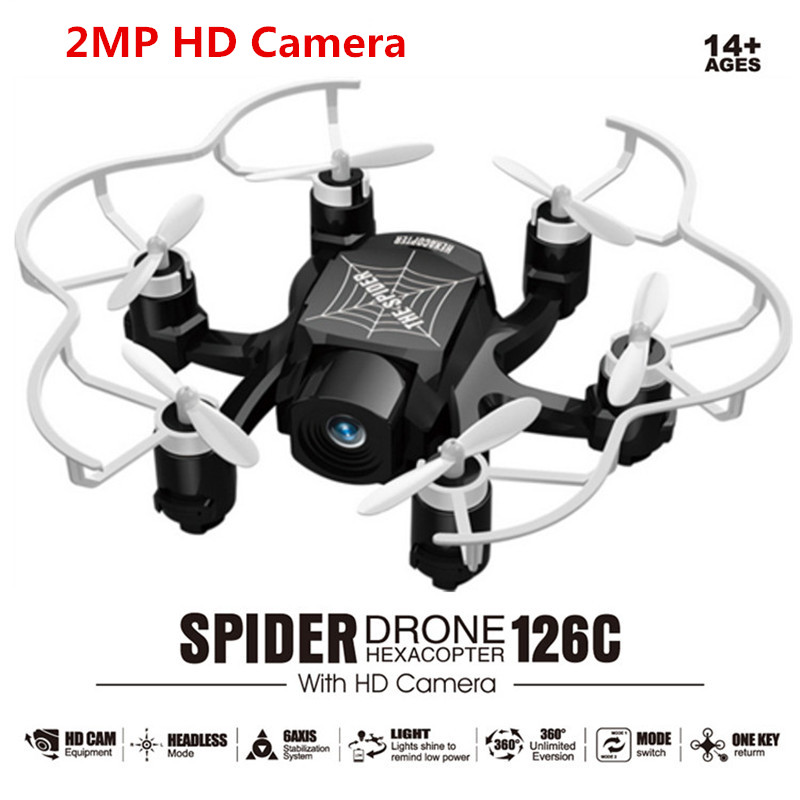 SBEGO 126C RC Mini Done With Camera 2MP 4CH 6Axis Drones with Camera HD RC Helicopter Mini Headless Mode RC Quadcopter VS FQ777