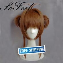 Sofeel Cardcaptor Sakura Kinomoto Sakura Cosplay Wig Brown 40cm Short hair Anime Cosplay Wigs Pluto P374C