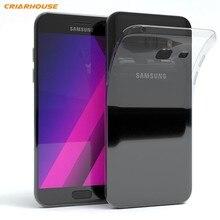 3a9d606eeb2 Claro caso de teléfono para Samsung Galaxy A3 A5 A7 2016 J1 J3 J5 J7 2017  S3 S4 S6 S7 borde s8 S9 más J2 Prime contraportada sof.