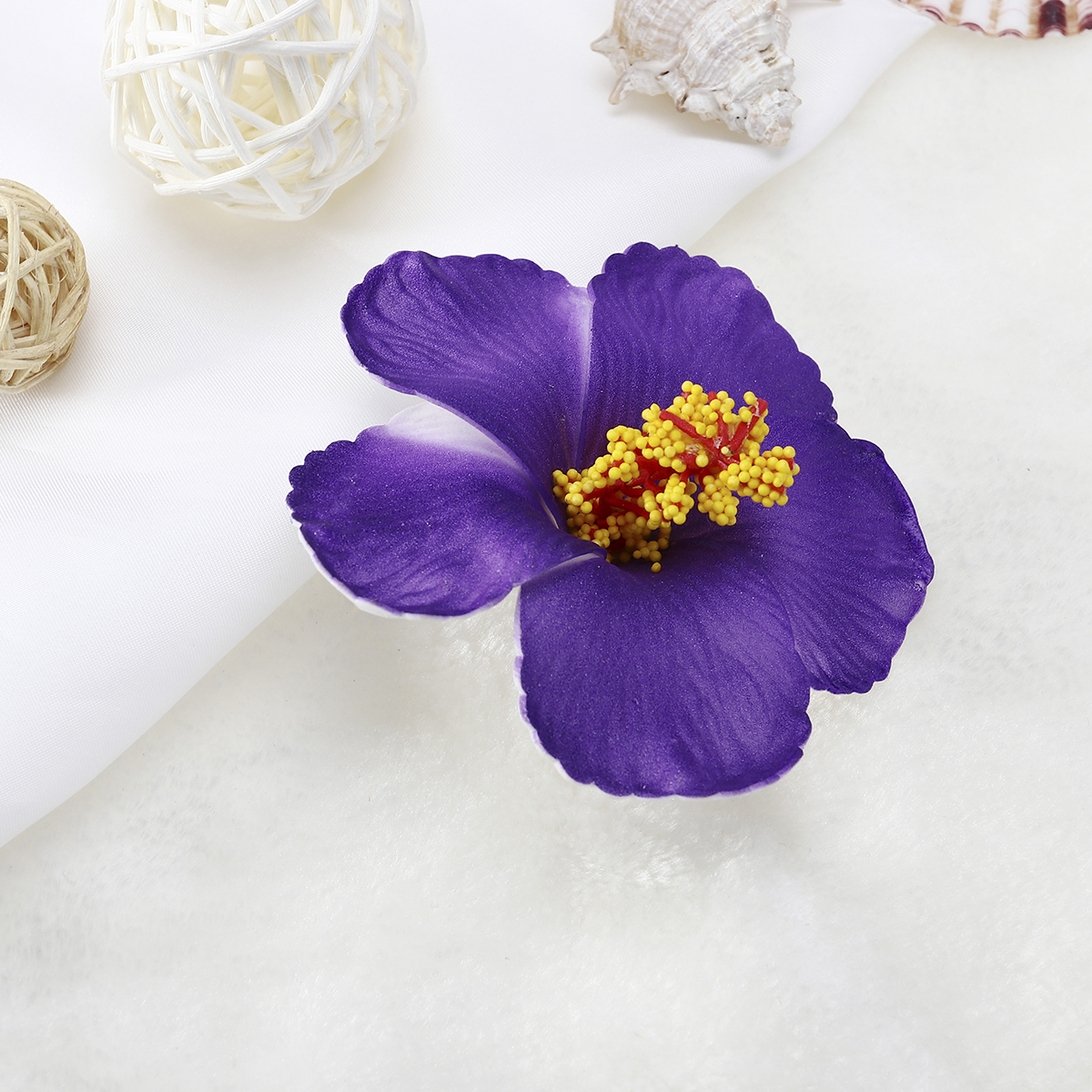 Aliexpress buy bestoyard hibiscus flowers hawaiian artificial 1 hibiscus flowers hawaiian flowers artificial flowers for tabletop decoration party favors supplies purple izmirmasajfo
