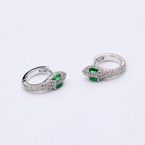 Image 2 - Einfache Mode Einzigartige Kreative Schlange Ohrringe Kleine Und Exquisite Lustige Tiere Ohrringe Für Frauen ZK40