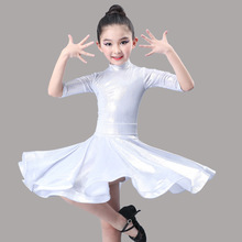 Latin dance performance costume child girl spring and summer new style practice latin competition dress for