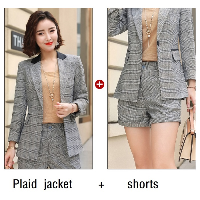 Trousers Ol Suit For Female Office Lady Work Blazer Ninth Pants Suit Elegant And Sturdy Package Pant Suits 2018 Spring Autumn Small Striped Suit Jacket Suits & Sets
