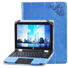 Luxury Folio Stand Flower Printing Pattern PU Leather Keyboard Case Cover For Voyo VBook V1 10.1 inch Tablet