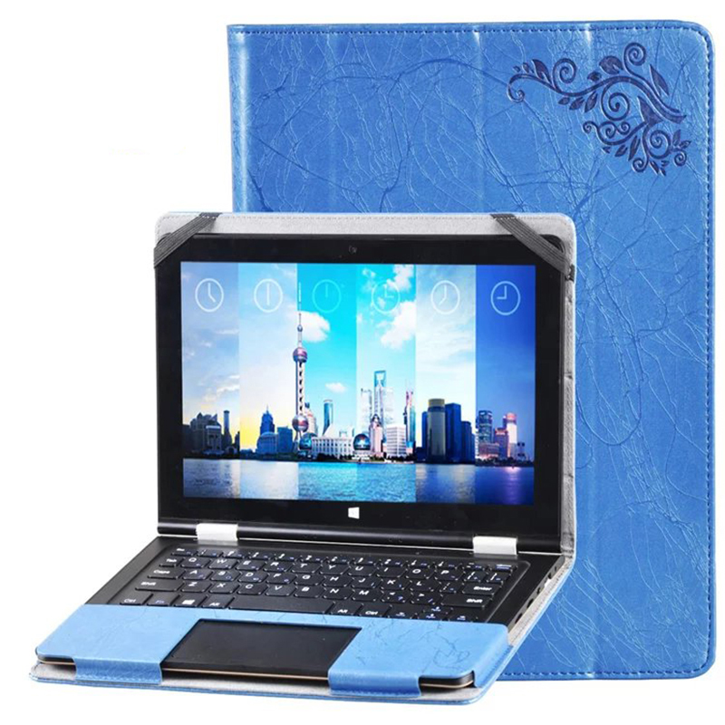 ocube Luxury Folio Stand Flower Printing Pattern PU Leather Keyboard Case Cover For Voyo VBook V1 10.1 inch Tablet keyboard withtouch panel for 10 1 inch voyo vbook v1 tablet pc for voyo v1 keyboard case