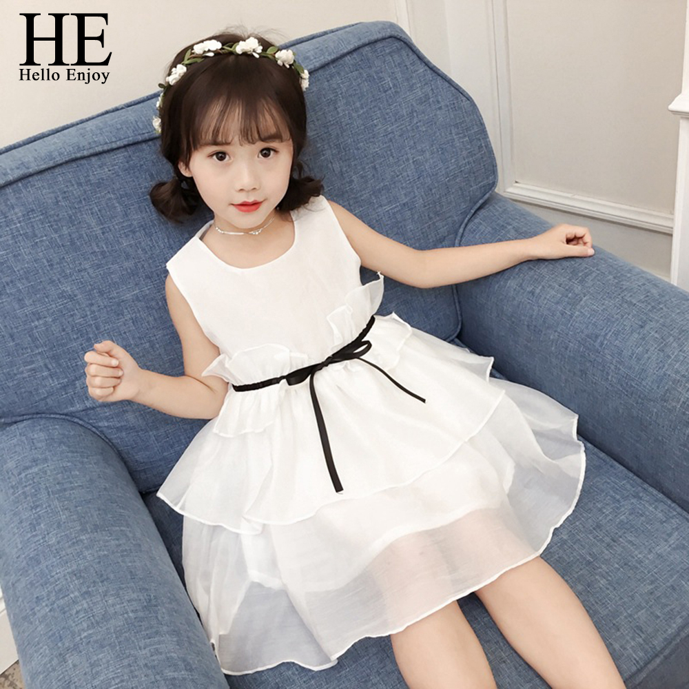 Toddler Girls Summer Clothing 2018 Casual Dress For Girl White Sleeveless Princess Wedding Dinner Tutu Dresses Kids Clothes New flower baby girls princess dress girl dresses summer children clothing casual school toddler kids girl dress for girls clothes page 5