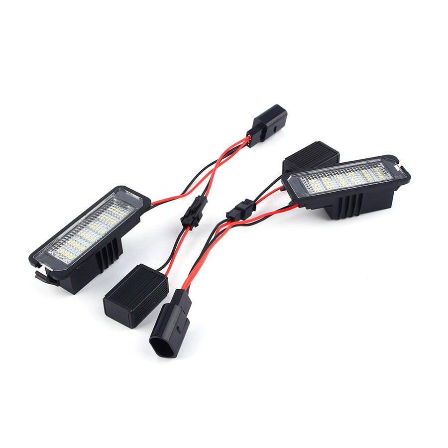 Car-Styling 1Pair left & right LED Error Free Number License Plate Light Lamp For VW For GOLF MK4 MK5 Seat  qook 2piece car error free led license number plate light lamp for porsche vw golf polo passat seat number plate lamp