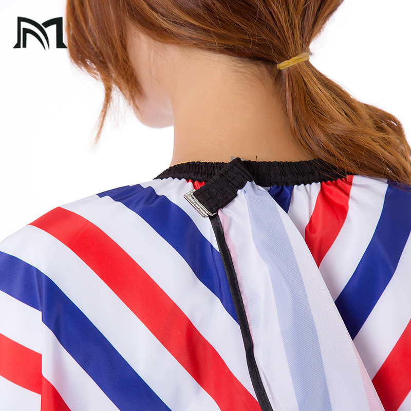 Купить с кэшбэком 3pcs Hairdresser Capes Salon Barber Cutting Hair Stripe Leisure Style Peri Cloth Waterproof Cloth Salon Barber Capes