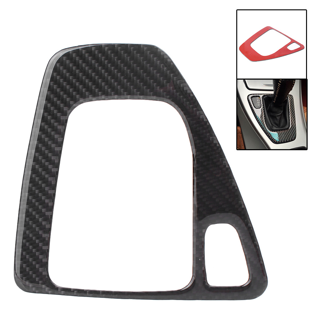 Carbon Fiber Gear Shift Shifter Frame Cover Overlay For BMW