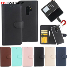 CBL 2 in 1 Magnetic Leather Wallet Case For Samsung S9 S8 Plus S7 S6 NOTE8 5 Phone Case Magnet Removable Retro Ultra Slim Cover