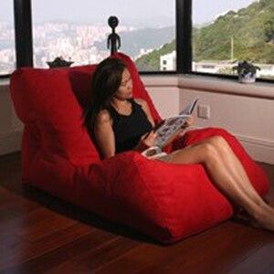 Image 1 - LEVMOON Beanbag стул для чата сумка для Фасоли Набор диванов мебель для гостиной без наполнения Beanbag кровати ленивое сиденье zac
