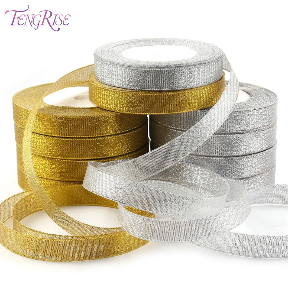 Banners, Streamers & Confetti Considerate Fengrise Glitter Organza Ribbon 10 15 25mm 22m Wedding Decorative Ribbons Tapes Diy Bow Party Gift Packaging Sewing Accessories Pure And Mild Flavor
