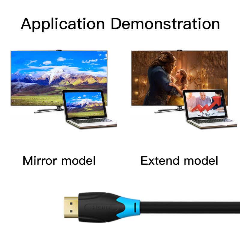 Vention عالية السرعة HDMI 2.0 كابل 4k 3D 60Hz HDMI إلى HDMI الذكور إلى كابل موصل ذكر ل HD TV كمبيوتر محمول LCD PS3 العارض الكمبيوتر كابل