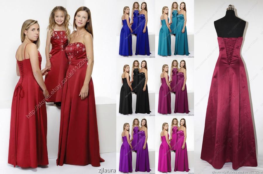 free shipping 2015 new abaya hot sequined beaded flower girl vestidos femininos para festas gown lace up custom   bridesmaid     dress
