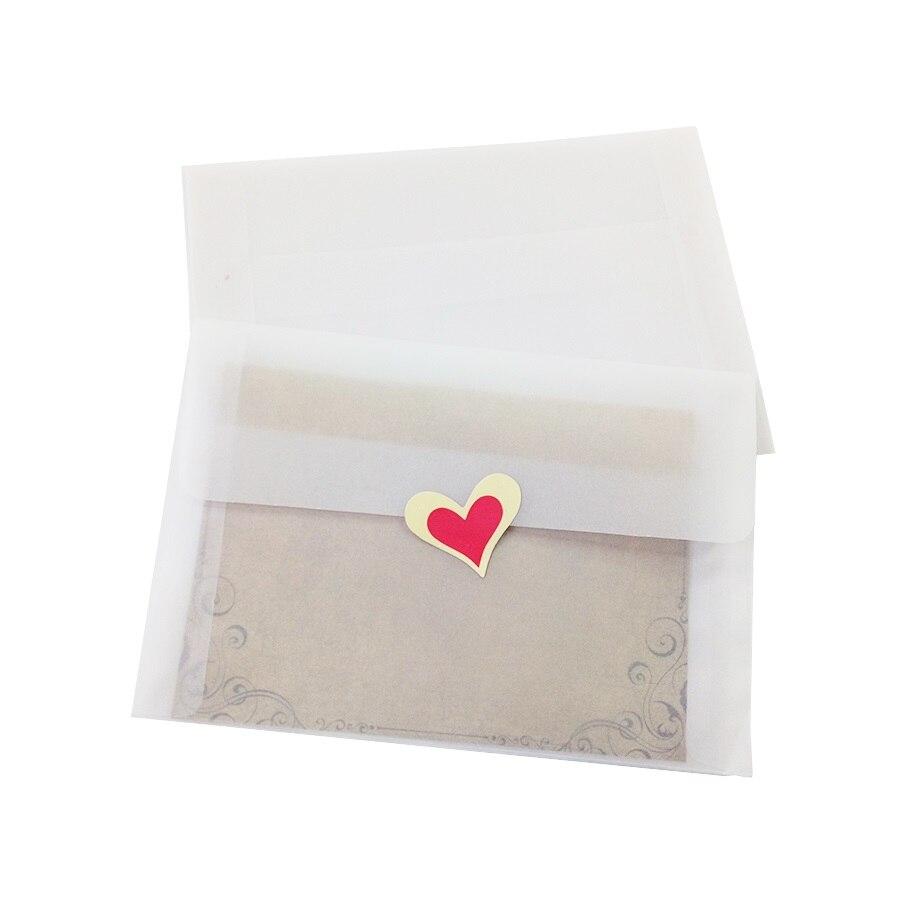 5pcs/lot Lovely Vintage Blank Translucent Vellum Envelopes DIY Multifunction Gift 175*125mm