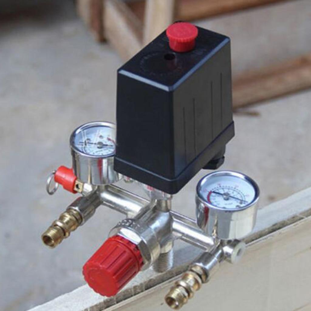 Image 5 - Air Compressor Pressure Valve Switch Manifold Regulator Gauge 175psi-in Pneumatic Parts from Home Improvement