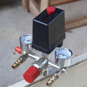 Image 5 - Zawór ciśnieniowy sprężarki powietrza przełącznik wskaźnik regulatora kolektora 175psi