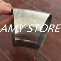 76mm 3 OD Sanitary Weld Elbow Pipe Fitting 45 Degree Stainless Steel 304