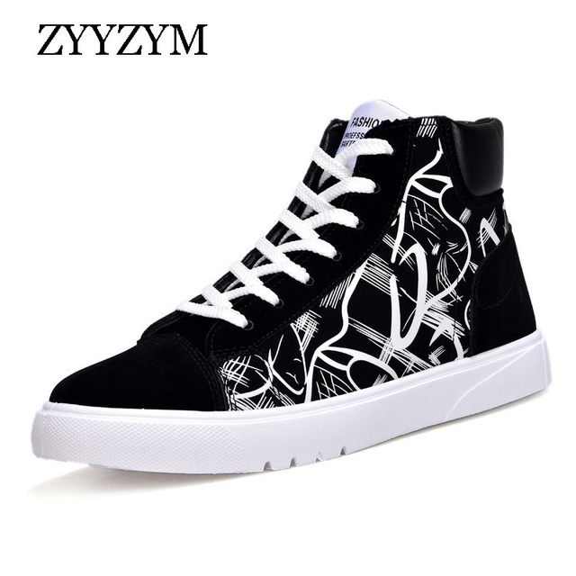 814593c497dc5 ZYYZYM Men Boots Spring Autumn Mixed Colors Fashion Trend Outdoor High  Casual Shoes 2018 New Hot Sale-in Basic Boots from Shoes on Aliexpress.com  | ...