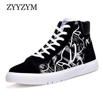 ZYYZYM botas para hombre primavera otoño colores mixtos moda tendencia al aire libre Alta Casual zapatos 2020 nueva gran oferta