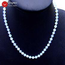 Qingmos Трендовое ожерелье из натурального опалового камня для