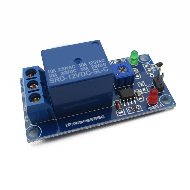 1 Channel 12v Thermal Relay Sensor Module Temperature Control Relay Module Thermistor Wet Control Thermal Switch For Arduino pcb board 1 channel plc relay module slotted optical switch sensor for arduino