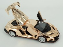 20pcs/pack Alloy Gilded Cars Models For Kids Toys Wholesale Poison Roadster Models Golden Race Cars Models