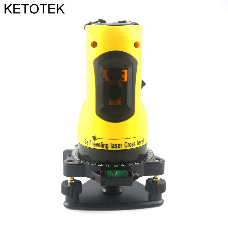 KETOTEK Laser Level Household 2 Lines Cross 360 Rotary Cross Laser Line Self Leveling Laser Level with Horizontal Vertical Line 1pc laser cast line machine multifunction laser line cross line laser rotary laser level 360 selfing leveling 5 line 4v1h3 point