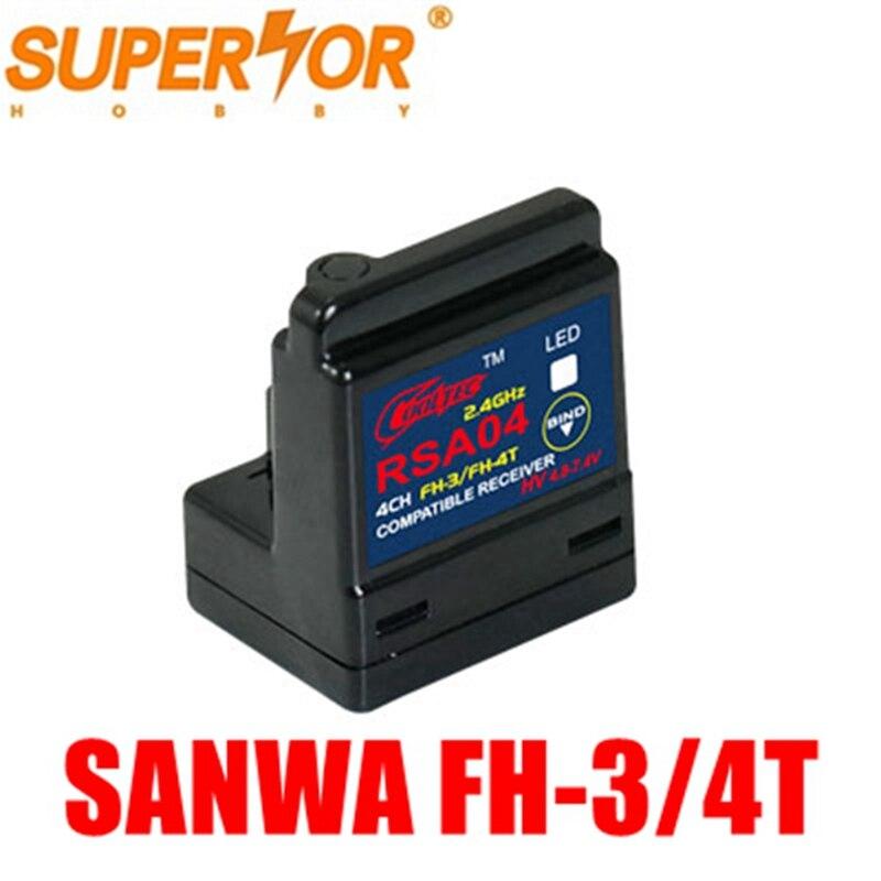 RSA04 ARX-482R 4CH Sanwa Surface Receiver FH-3/FH-4T Compatible M12 M11X EXZES X MT-44 MX-3X GEMINI X MT-S MT-4S M12S Skyarea