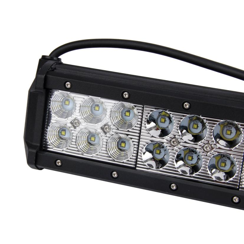 12 inch Led Work Light Bar Spot Flood + 2x 4