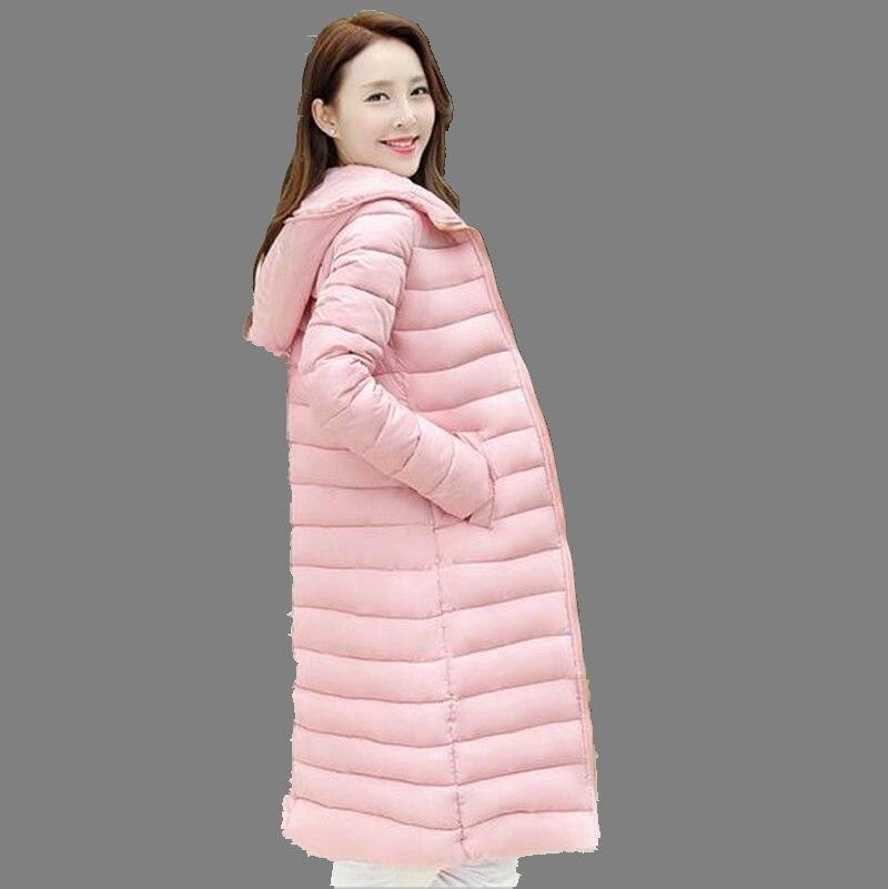 Korea 2016 Winter New Women Fashion Warm Hooded Jacket Thicken Big yards Solid color Slim Medium