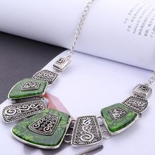 Hesiod New Spring Green Crystal Women Brand Maxi Statement Necklaces& Pendants Vintage Turkish Jewelry Necklace(China)